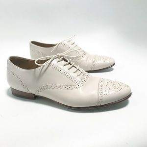 JCrew. Ivory oxfords loafers.